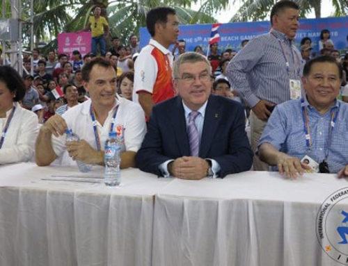 Historical moment for Muaythai – IOC President visits