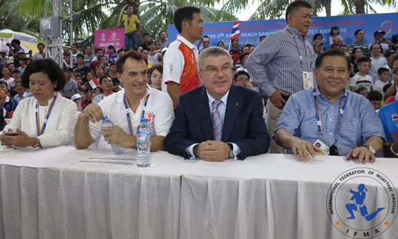Historical moment for Muaythai – IOC President visits